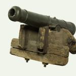 """Топ раставни брдски (""""Хајдук"""" – топ), бронзани једнофунтовни, Србија, М.1809."""